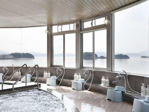 エンジェルロードと瀬戸内海が一望できる展望台大浴場