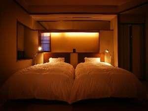 翠葉亭客室 シモンズ社製ベッド