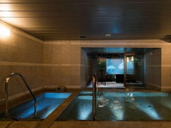 健康イオン水泉と高濃度人工炭酸泉の2つの浴槽をお楽しみ頂けます