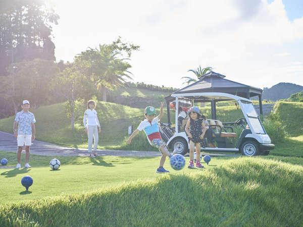 【フットゴルフ場】小さいお子様からお年寄りまでみんなで楽しめます。