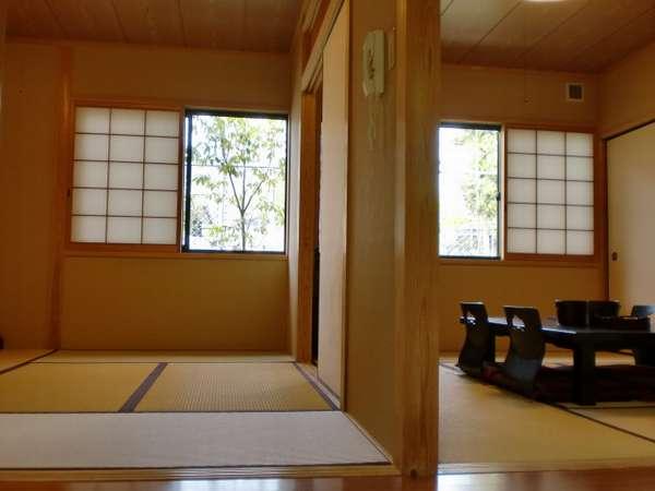 1階和室12畳「萩」。6畳ずつ2間に仕切ってご利用できます。