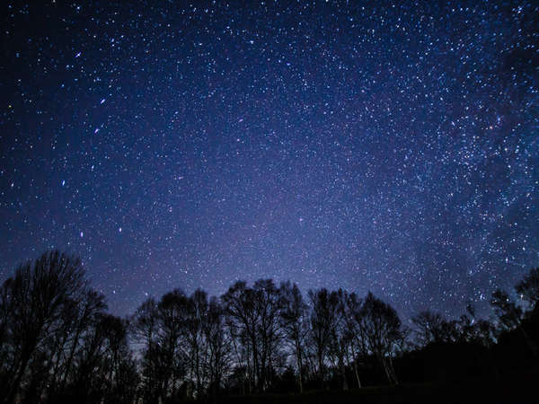 天気が良ければ客室の露天風呂から満天の星をお楽しみいただけます。