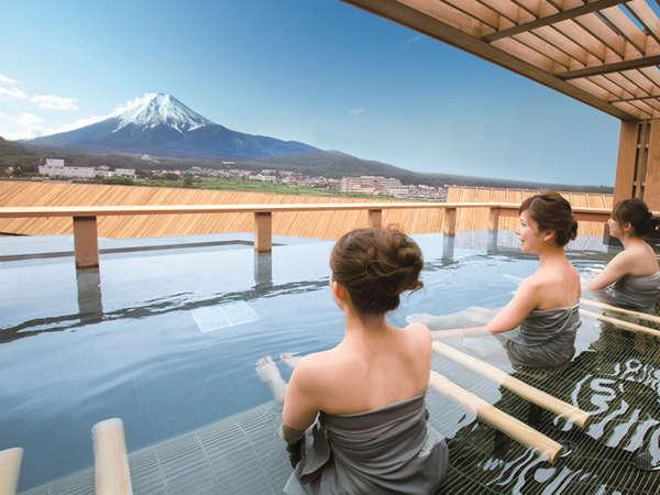 露天風呂富士山(男女時間制)/鐘山苑の大浴場もご利用頂けます