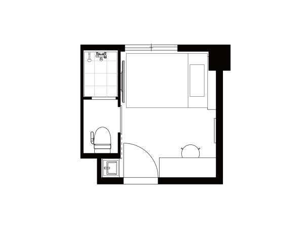 シングルルーム見取り図 ※写真は一例になります。
