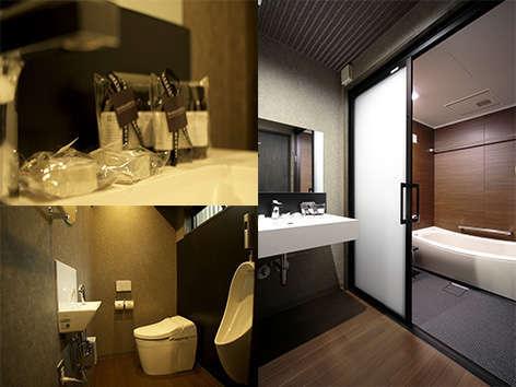 風呂は広めにスペースを確保し、アメニティには女性に人気のマークス&ウェブを採用しています。