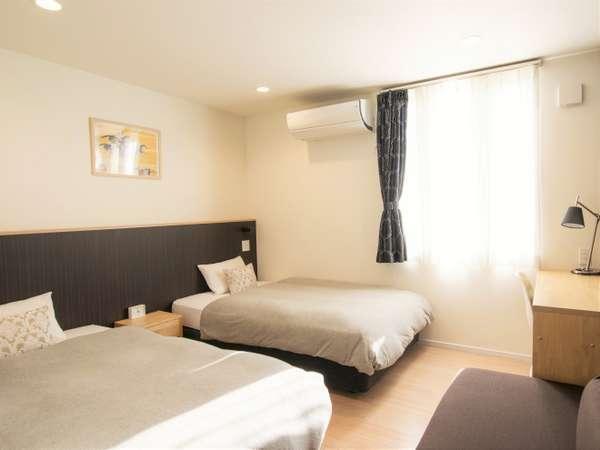 ツインルーム客室画像 ■120cmサイズベッド×2台でお二人様&ファミリー向きです