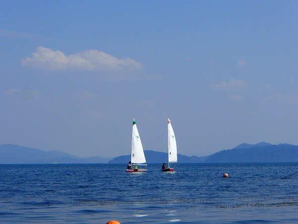 #【ヨット】当施設の湖上プログラムの中で最もスポーツ性が高いアクティビティです。