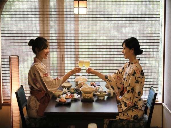 【食事会場・菊の間】和を基調とした趣のあるお食事会場