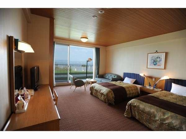 ツインルーム 琵琶湖を一望していただけます