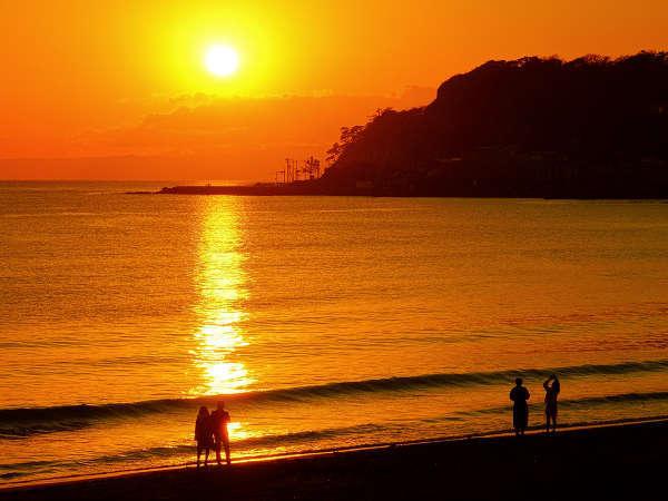 絶景!由比ヶ浜の夕日