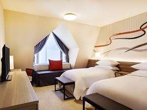ゲストルームには、独自開発「シェラトン・スイート・スリーパーベッド」をご用意しております。