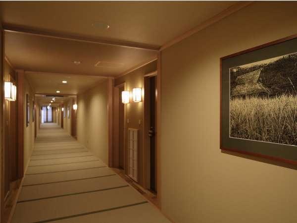 【客室タイプのご案内】畳張りの廊下。是非素足でお過ごしください。