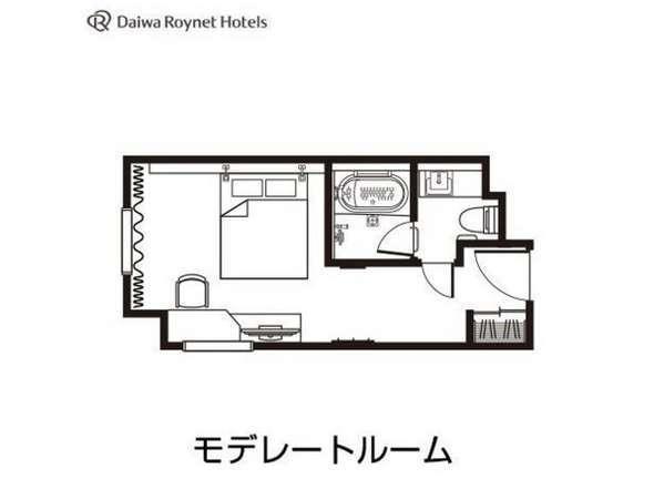 モデレート間取り図/20㎡/ベッド幅154cm