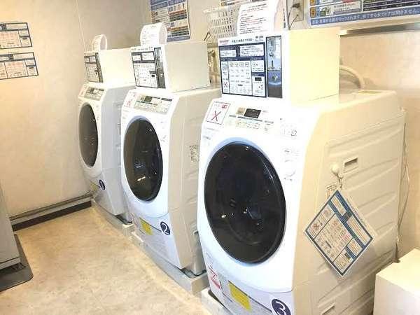 乾燥機付のコインランドリ-、洗剤は自動投入されます