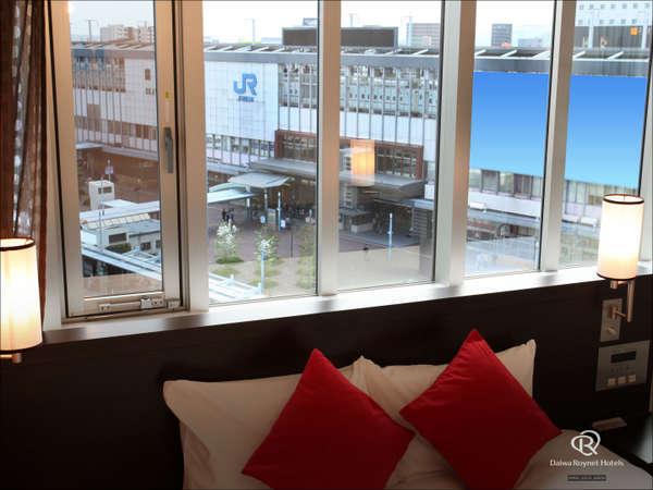 〈おすすめ〉一部のお部屋から岡山駅がご覧いただけます。