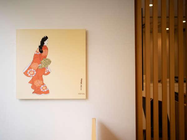 """ラウンジはホテルの目の前の""""旧東海道""""の街並みに合わせた和の空間"""