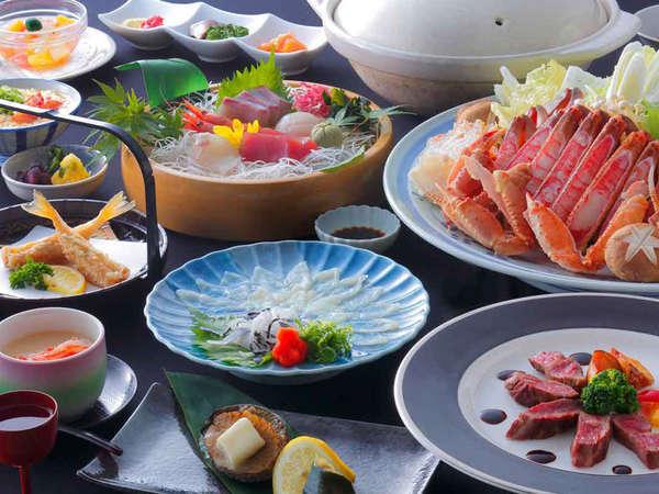 星明り~ふぐ刺し・若狭牛ステーキ・アワビ陶板焼き・カニすき鍋(大なべ)