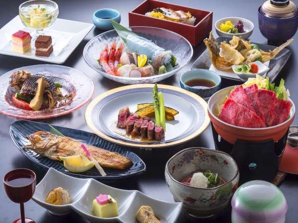【光彩~こうさい~】甘鯛・若狭牛ステーキ・若狭牛すき焼き