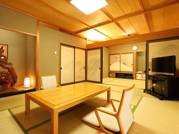 【特別室】広々とした16畳お部屋は贅沢な一日にぴったりの和室です。