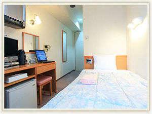 ■客室:シングルルームは110cm幅ベッドでゆったり♪