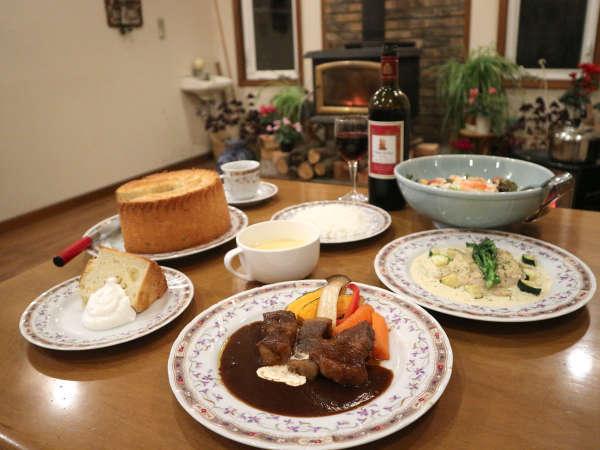 *夕食一例/当館一番人気のビーフシチュー♪お肉は岩手を代表するブランド牛「前沢牛」を贅沢に使用。