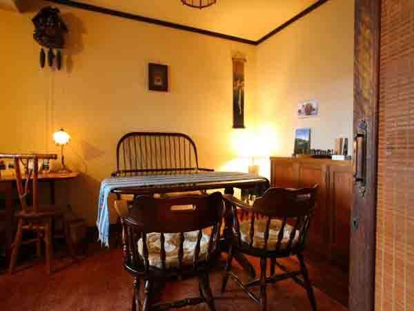 松本や飛騨民芸家具のロビーでお茶を♪若女将手作りの、、絵葉書で旅の便り♪