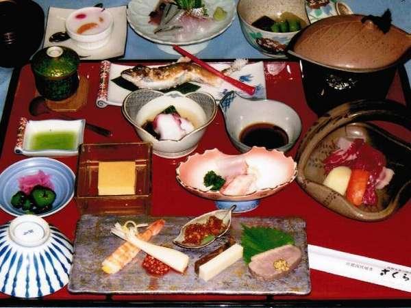 飛騨牛付き会席料理(一例)