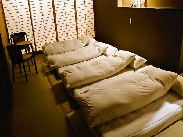 南天の間 寝室※布団敷はお客様にてお願いしております。
