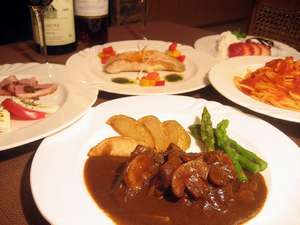 オーナー手作りのイタリアン家庭コース料理(一例)