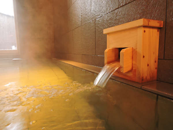 大浴場は白馬姫川温泉を使用!