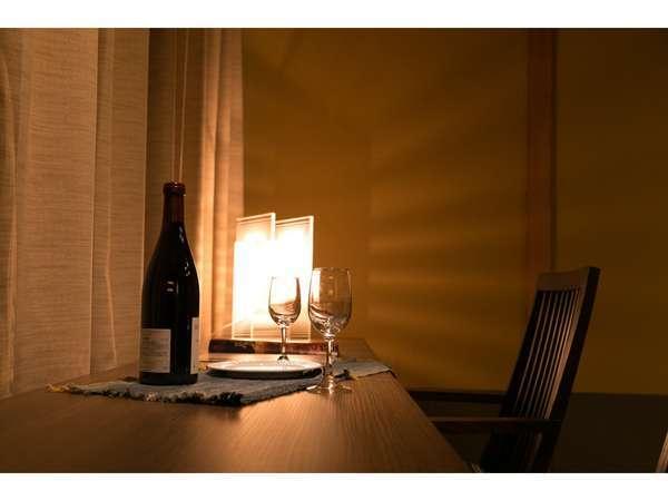 なごみの郷14畳2F【穂波】・【松風】夜はカウンターでワインでも・・