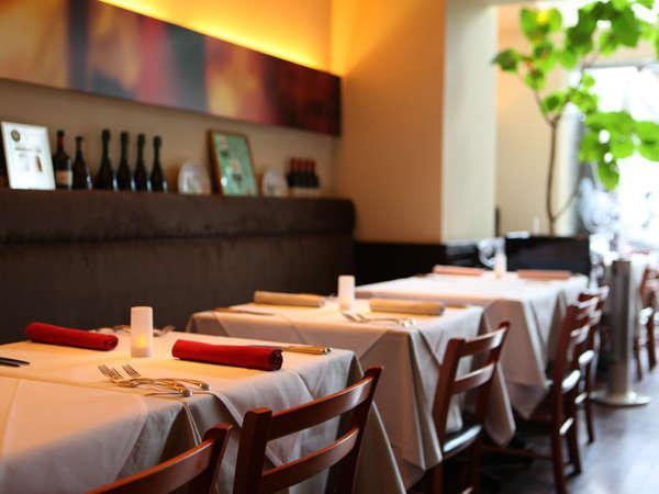 HOTEL MIWA1Fにございます「Ristorante Suolo」です。デートやご家族のお食事会にもってこいです。