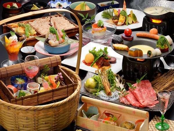彩り豊かな夕食一例