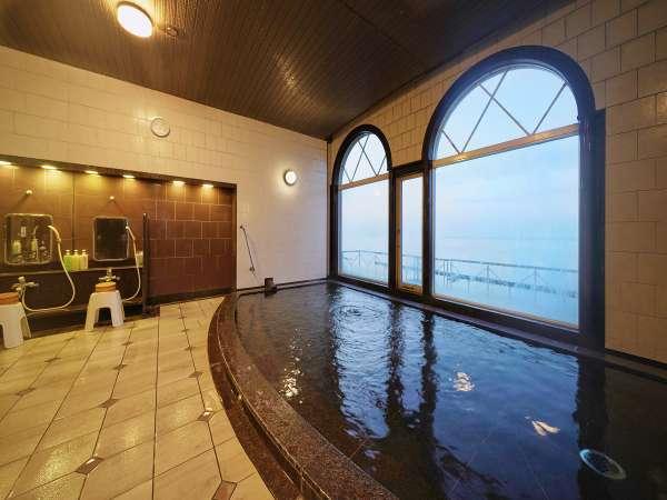【夕日の湯】女性大浴場♪最上階11階にあり眼下に広がる須磨海岸&明石海峡大橋が一望できます