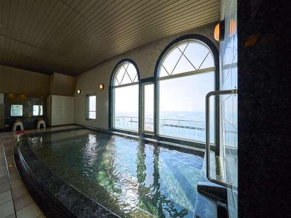 【朝日の湯】男性浴場♪須磨海岸が一望でき絶景の癒しです。