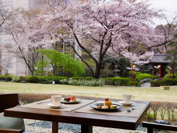 クラブラウンジ 花雅で桜を楽しむのもおすすめ※開花の時期・客室により見え方が異なります