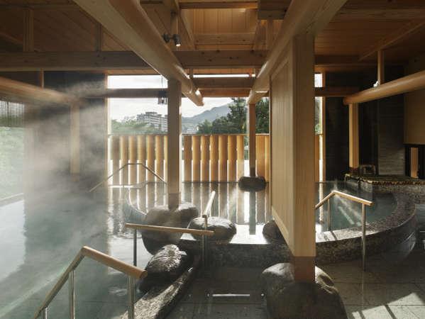 【女性大浴場:沙の湯】木を贅沢に使用した上品な和の空間