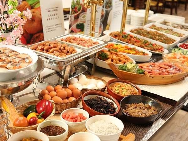 和洋充実の朝食ブッフェグはこだわりがたっぷり!