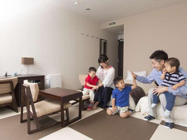 和モダンルームは畳敷きのお部屋なので、お子様連れでも安心。