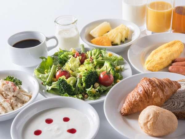 【朝食】爽やかな洋食のメニューも豊富にご用意