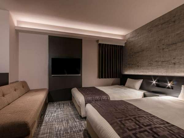 【モデレートツインルーム】24㎡/110cm幅ベッド2台