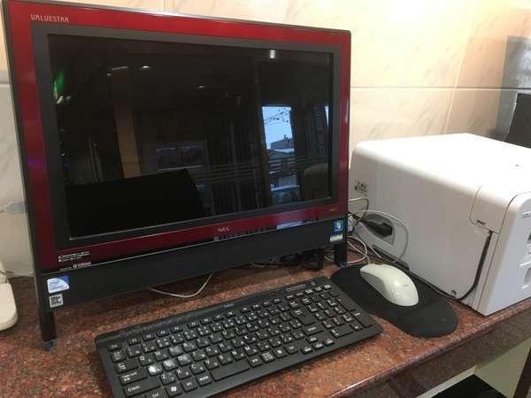 ◆ロビーにて無料で利用できるパソコンがございます。