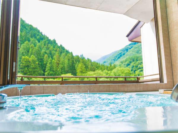 【谷川岳を一面に臨む。ジャグジー付き貸切風呂】