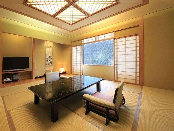 ■露天付貴賓室■『雪の間』[12.5+6畳+リビング+露天+檜内風呂]