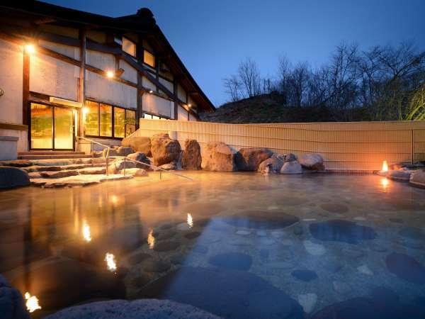 優香苑館内「大浴場とよさわ乃湯」露天風呂