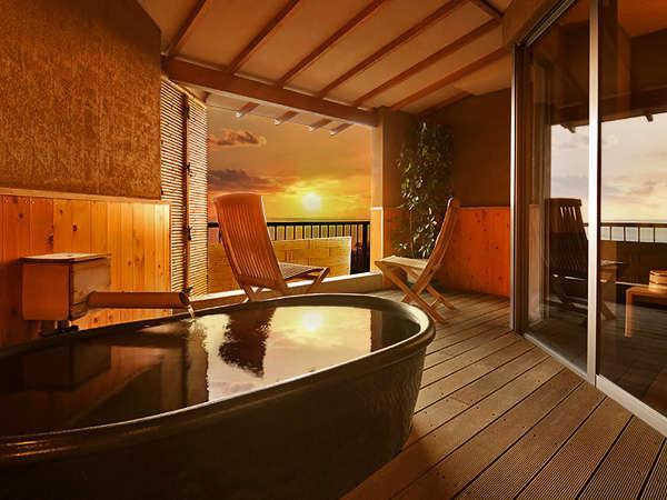 貸切露天風呂『海』では美しい三河湾を眺めながらプライベート入浴をご満喫頂けます。