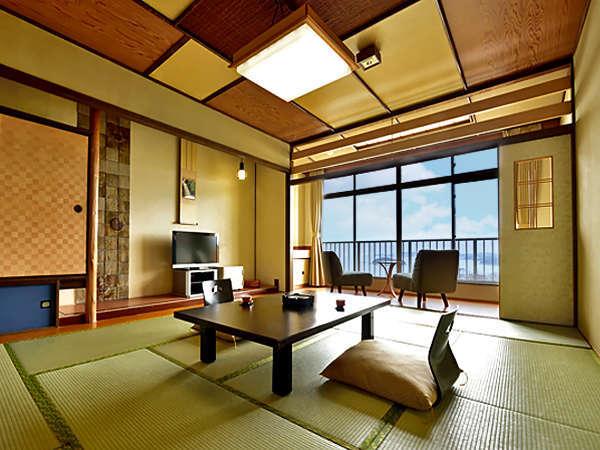 【秀扇閣 日帰休憩室】一般客室は窓からは美しい三河湾の風景、和の趣漂う和室です。※一例
