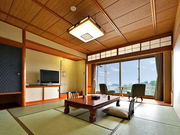 【香扇閣】一般客室は窓からは美しい三河湾の風景、和の趣漂うモダンな和室です。※一例