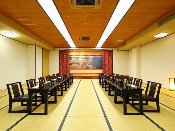 広めの宴会場(40名まで) テーブル