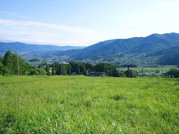 目の前は広々とした草原